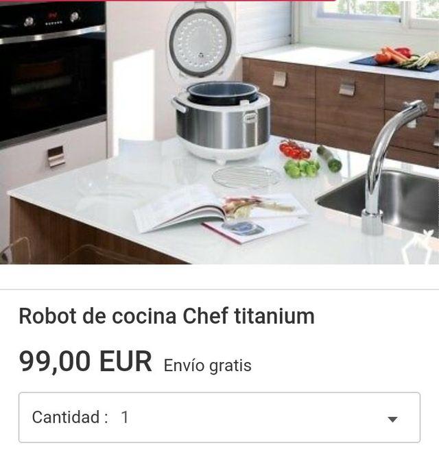 Chef Titanium con voz , Robot de cocina