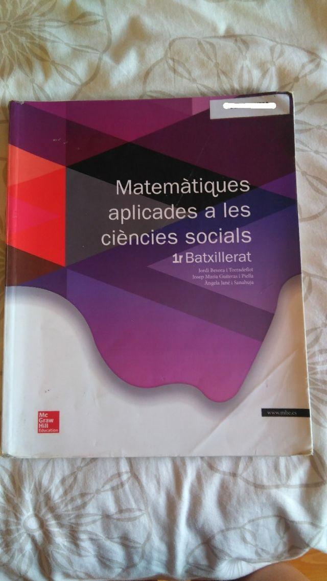 Matemàtiques aplicades a les ciències socials 1r