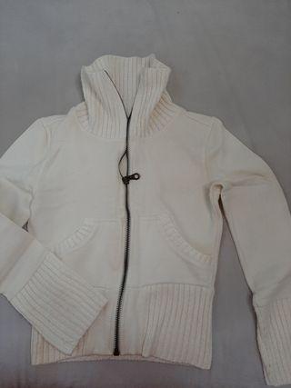 chaqueta Blanca entallada ,talla S