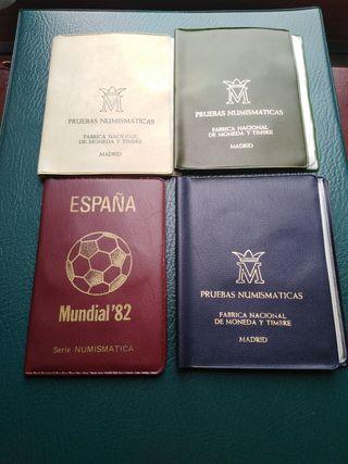 4 Carteras Numismáticas de la FNMT (España)