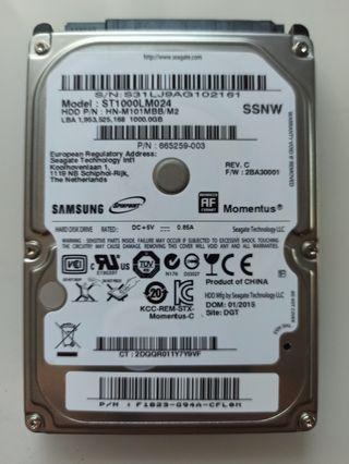 """Disco duro Seagate/Samsung Momentus M8 2.5"""" 1TB"""
