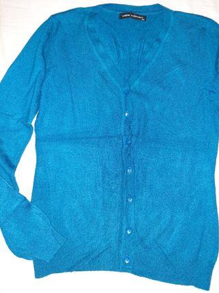 chaqueta entallada azul