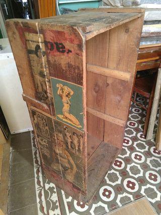 caja / cofre / baúl madera antigua vintage