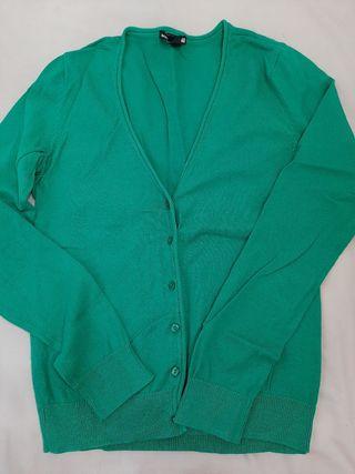 chaqueta verde entallada