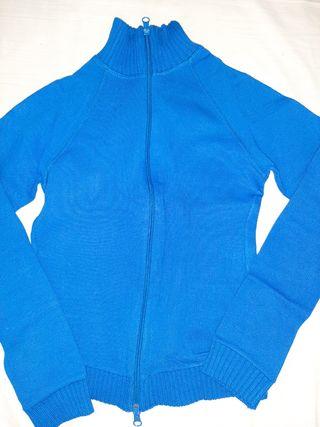 chaqueta azul electrónico, entallada