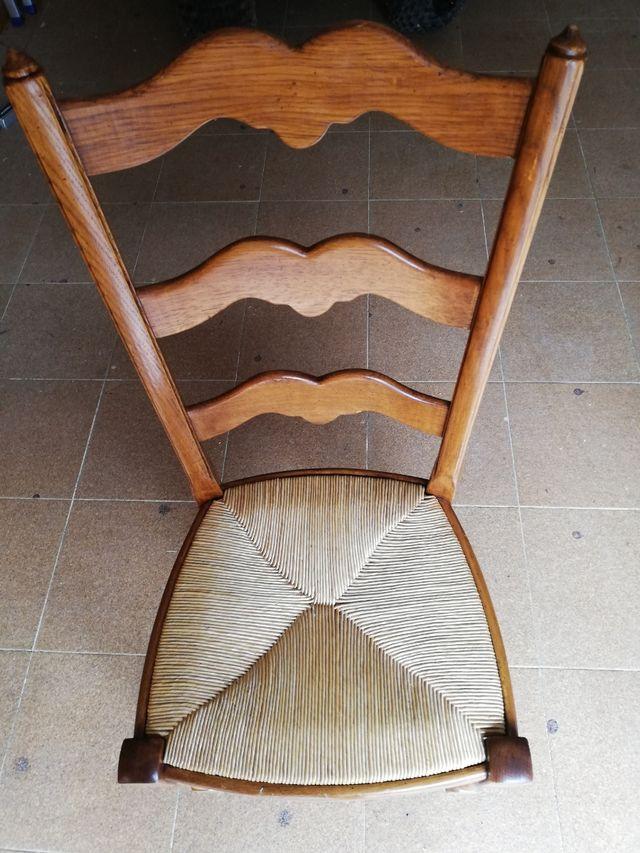 sillas de roble macizo estilo rústico/colonial