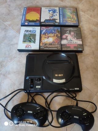 Consola Sega Megadrive + Juegos