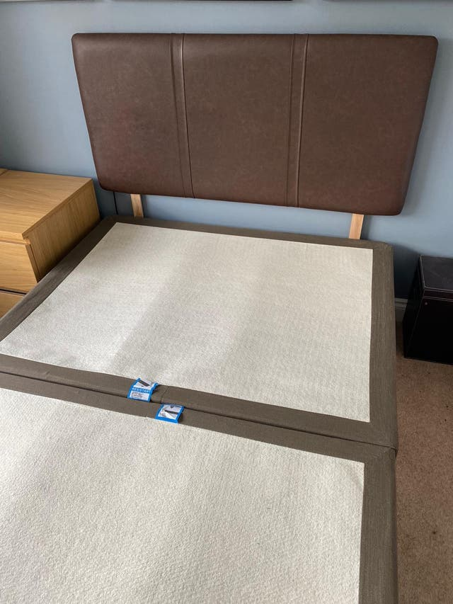 Bed base and headboard