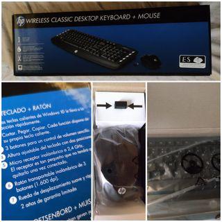 Teclado + ratón wireless NUEVO HP