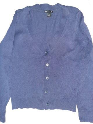 chaqueta azul entallada