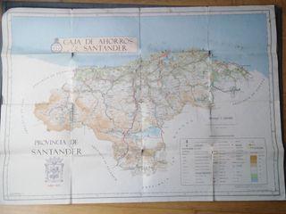 Mapa de 1971 de la Provincia de Santander