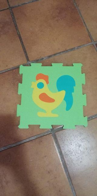 Suelo de goma infantil, 16 piezas