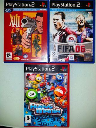Juegos PlayStation 2 - FIFA 06, XIII y Robot Manía