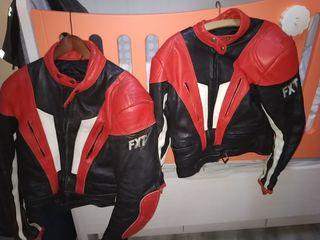 cazadoras de moto cuero FXT tallas 52 y 40