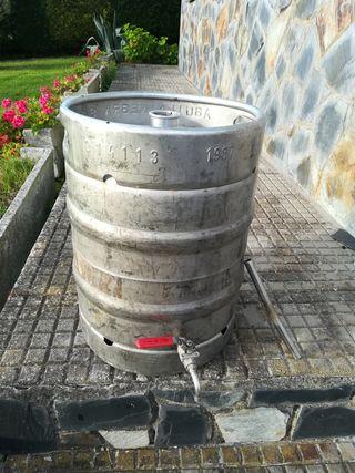 bidón de cerveza 50 litros con grifo acero inoxida