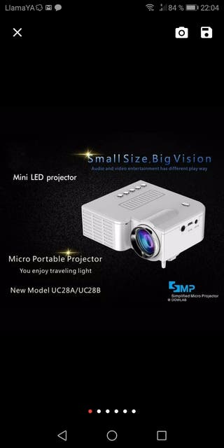 miniproyector LED
