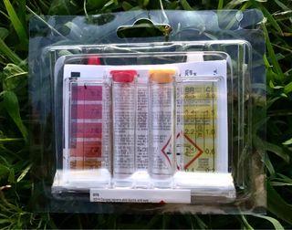 Test piscina cloro y Ph. Medidor y liquidos. Nuevo