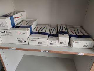 Lote de varias cajas de canutillos para encuaderna