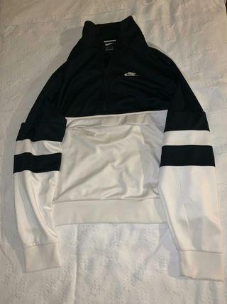 chaqueta nike blanca y negra xl