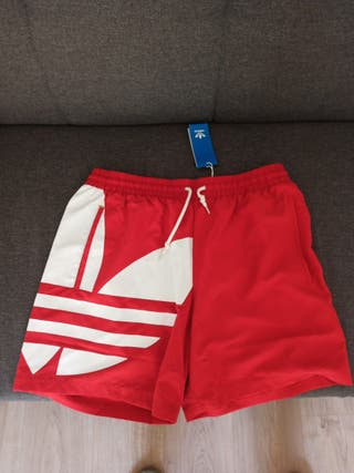 bañador L Adidas rojo con etiqueta nuevo