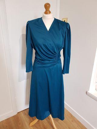 Vintage Emerald Green Dress Size 12