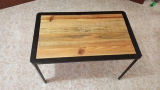 vendo mesa rústica de hierro y mader