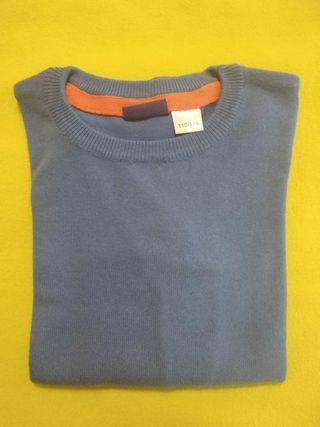Jersey azul cuello redondo T. 110