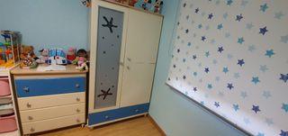 Armario + comoda cambiador infantil