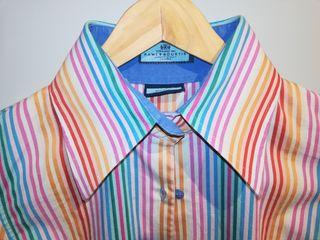 Camisa retro multicolor de Londres