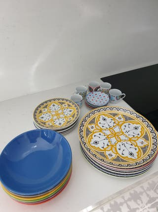 Vajilla y juego de café estilo marroqui