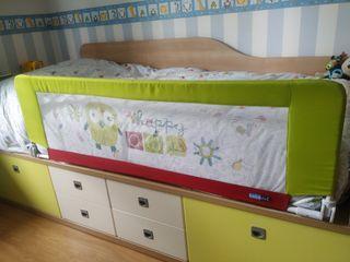 Barrera de cama plegable y desmontable