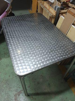 mesas de aluminio 1.2o × 8o 5 unidades