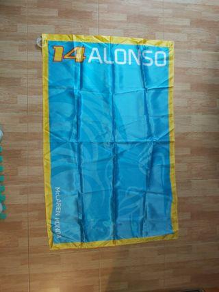 bandera Fernando Alonso f1
