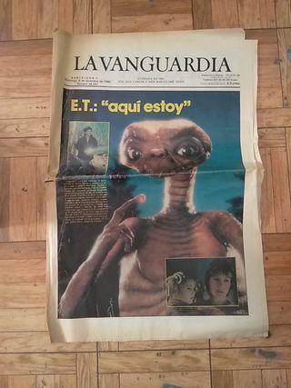 portada de La Vanguardia Estreno ET