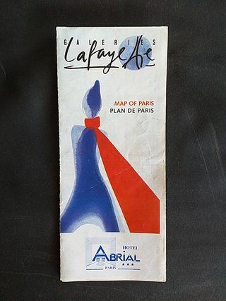 Mapa de París. Galerías Lafayette. Año 2000 aprox.