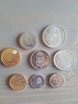 lote 8 monedas españolas sin circular
