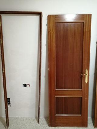 Puerta de paso madera