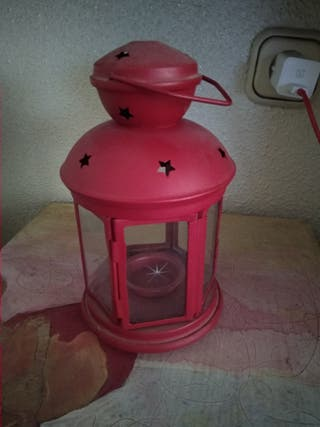 candelabro Ikea rojo