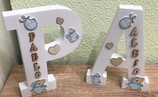 Letras madera personalizada con el nombre