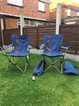 2 folding euro hike garden chairs with bag