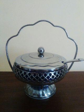 Bowl servir metal y cristal / Serving bowl metal