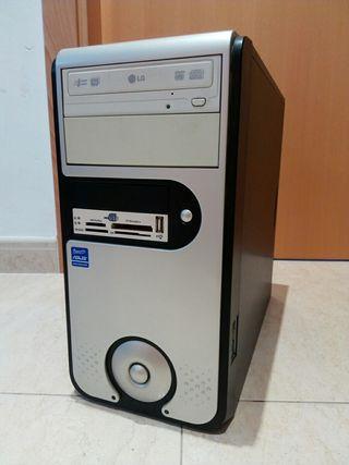 Torre ordenador con placa base CPU dual core