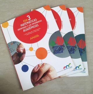 Libros Matemáticas Académicas 3°eso