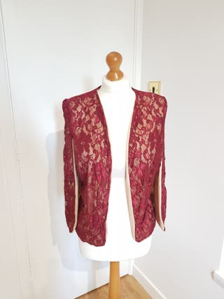 #Red lace #capejacket #size10.