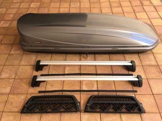 Conjunto baúl, barras, portaeskis original BMW X5