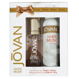 White Musk Jovan colonia + desodorante