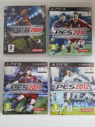 Pack 4juegos PS3 Pro Evolution Soccer