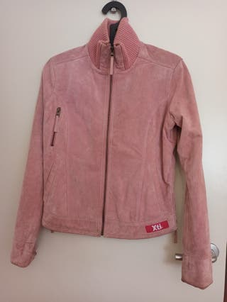 chaqueta de piel XTI mujer rosa