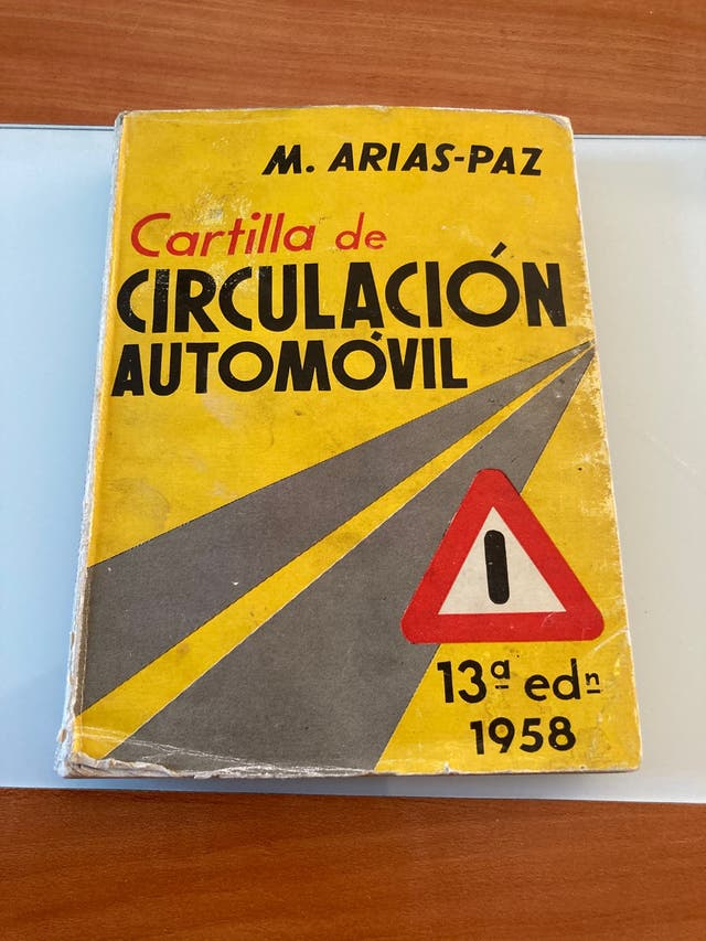 Cartilla de circulacion 1958