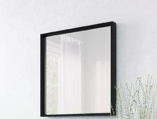 Espejo negro marrón de ikea